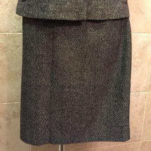 BANANA REPUBLIC Gray Wool Blend Pencil Skirt